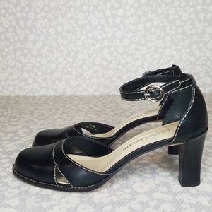 Ann Taylor Leather Heels Ankle Strap